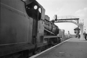 31874 at East Croydon's platform 3 in 1956. Thanks to Mike Morant