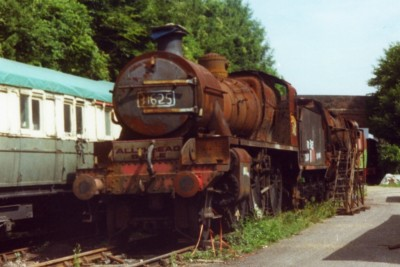31625 in Barry condition awaiting restoration at the Mid Hant's railway