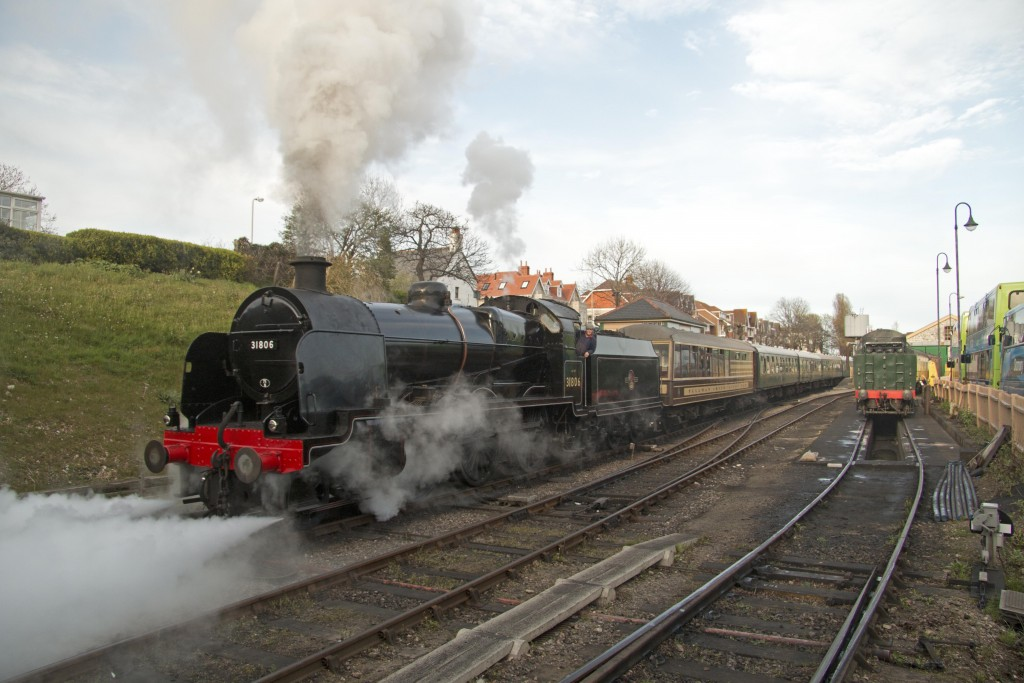 31806 departs Swanage on Friday 17th April 2015.