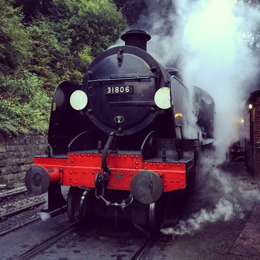31806 waiting to leave Grosmont shed ahead of the morning photo charter on 26/09/15.