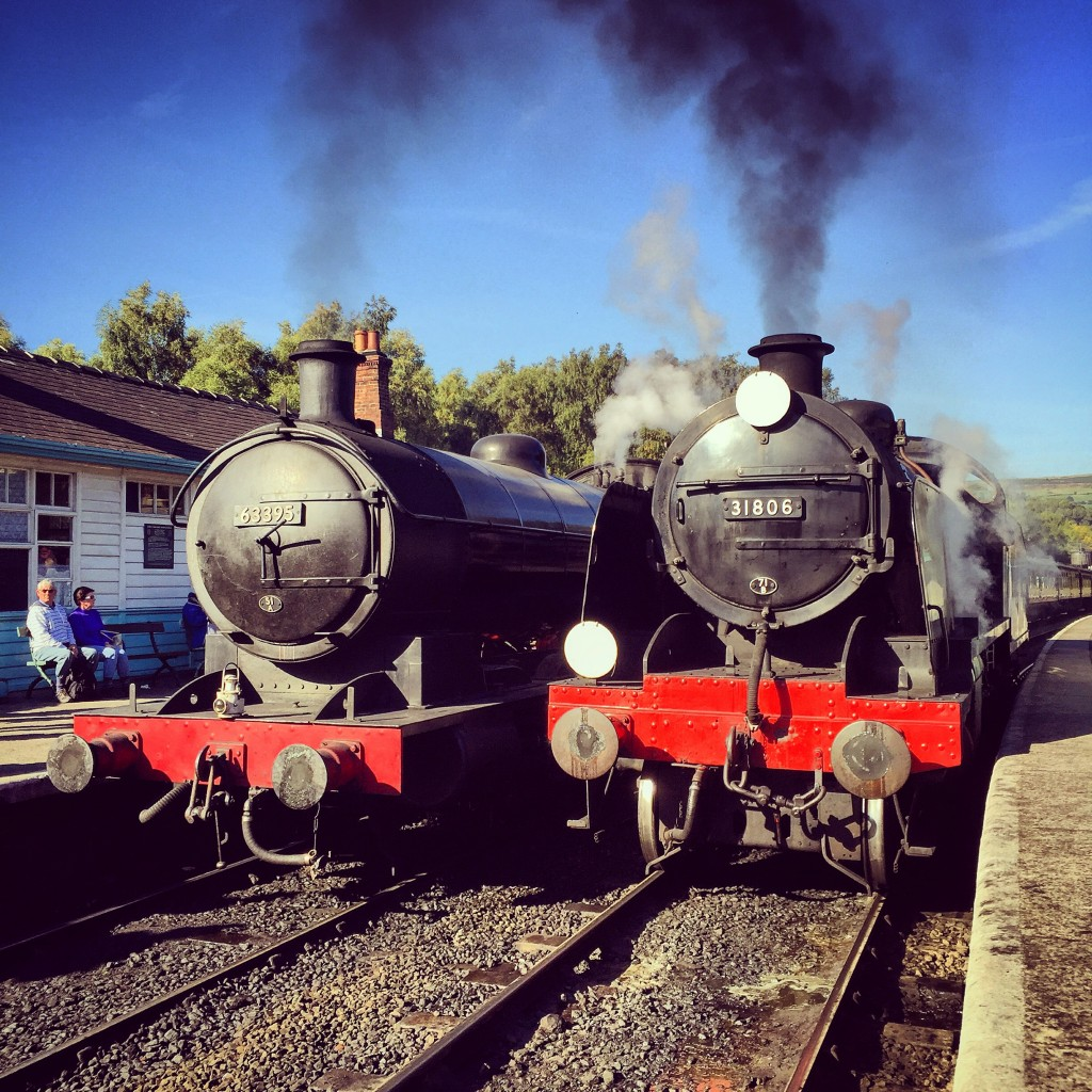 63395 and 31806 at Grosmont.