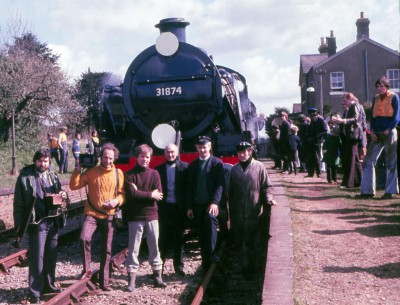 31874 at Ropley in the early years of preservation