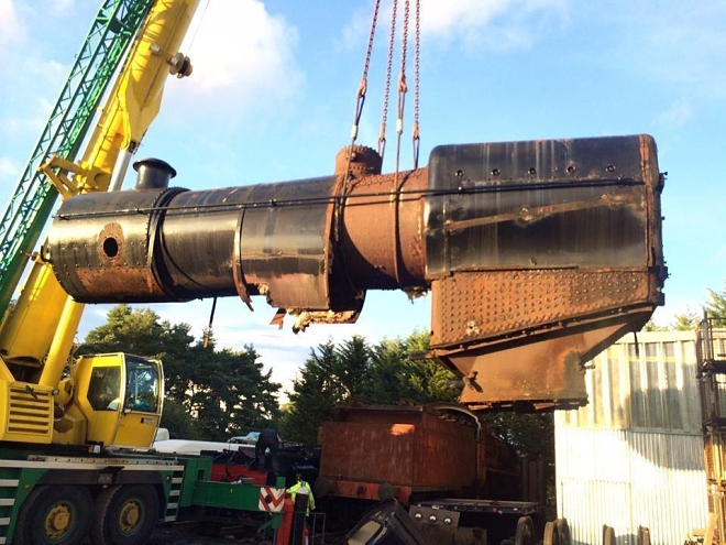 31874 boiler being lifted