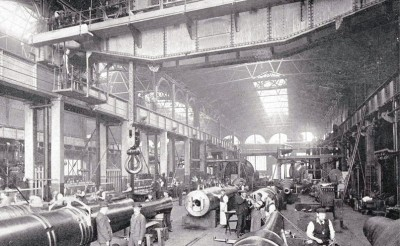 One of the erecting shops at the Royal Woolwich Arsnel