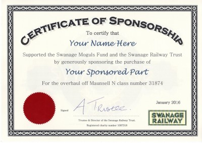 sponsor a part for 31874 the swanage moguls fund